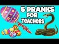 5 Pranks You Can Do On Teachers At School On April Fools' Day- HOW TO PRANK (Evil Booby Traps)