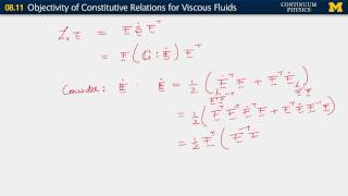 08.11. Objectivity of constitutive relations for viscous fluids