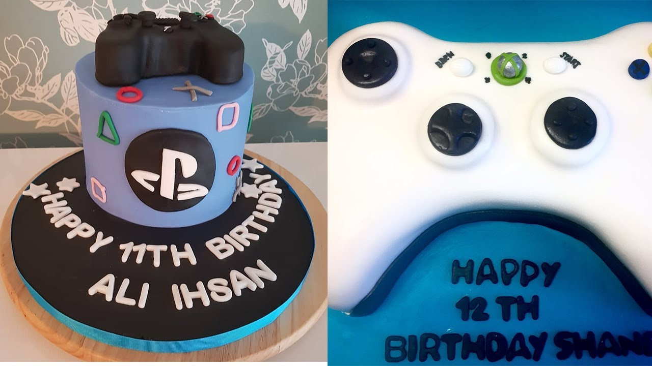 X Box 360 PS 4 Game Console Cake Decoration Birthday Ideas For Gamers Step By Tutorials