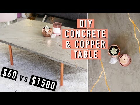 *AFFORDABLE* DIY Concrete and Copper Kintsugi Table! | DIY | Nava Rose