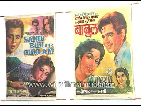 Old Bollywood films poster exhibition in National Gallery of Art in Mumbai