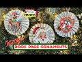 Vintage Book Page Ornaments