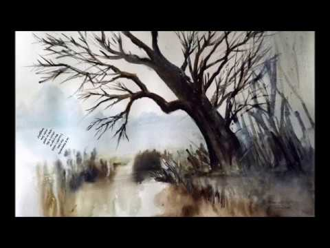 Impressionist Watercolor Under 10 Minutes Lesson: How to Paint A Large Winter Tree