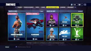 Boutique Fortnite battle royale new skin (20/07/2018)