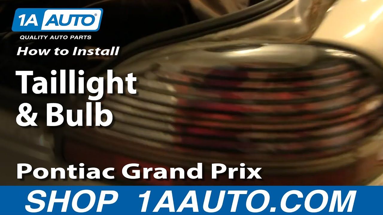 small resolution of how to replace tail light 97 03 pontiac grand prix