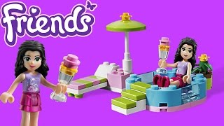 Lego Friends Emma's Splash Pool Toy Unboxing