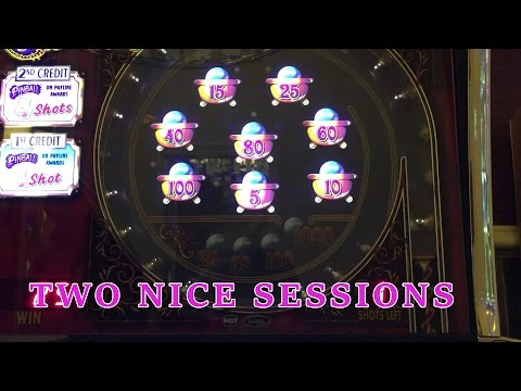 Pinball slot - two nice quick max bet sessions - Slot Machine Bonus
