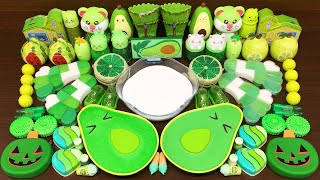 GREEN AVOCADO Slime  Mixing Random Things into GLOSSY Slime  Satisfying Slime Videos 311