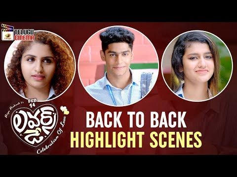 Lovers Day BACK TO BACK HIGHLIGHT SCENES | Priya Prakash Varrier | Omar Lulu | Mango Telugu Cinema
