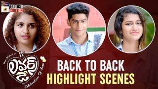 Lovers Day BACK TO BACK HIGHLIGHT SCENES | Priya Prakash Varrier | Omar Lulu | Mango Telugu Cinema