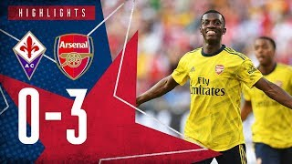 Eddie Nketiah can't stop scoring! | Fiorentina 0-3 Arsenal - International Champions Cup highlights