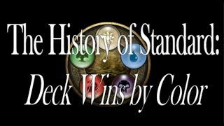 The History of Standard - Deck Wins by Color