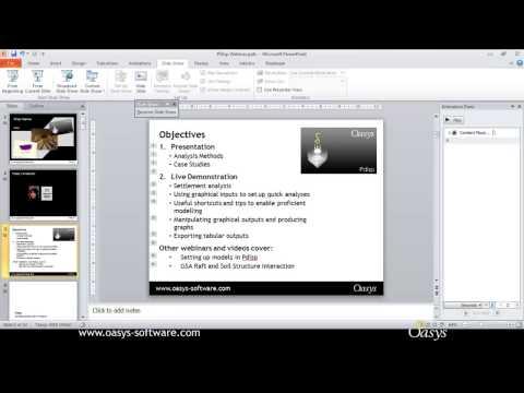 Webinar: Modelling Ground Movement using Oasys Pdisp -- 30th April 2013