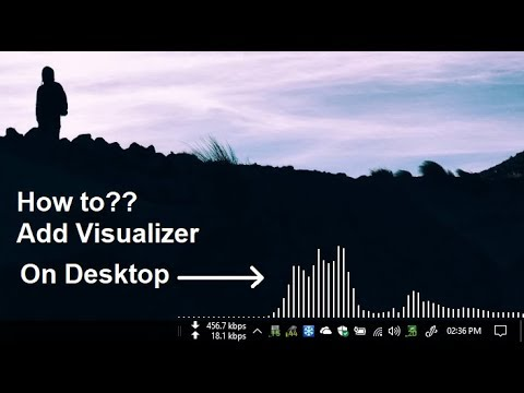 music visualizer on desktop (Windows 10