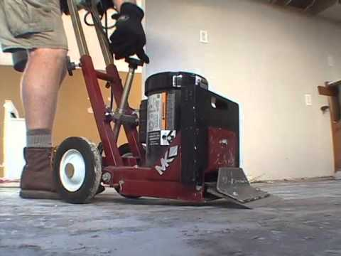 VTS Floor Scraper YouTube - Mechanical floor scraper