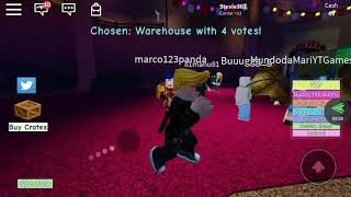Fleeing the clown in the Roblox