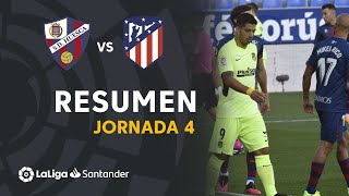 Resumen de SD Huesca vs Atlético de Madrid (0-0)