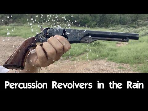 Percussion Revolvers in the Rain