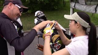 マーク金井と森下千里の「よそでは言えないゴルフの極意」 クラブセッティング 森下千里 動画 9