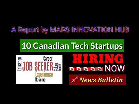 🇨🇦 10 Canadian Tech Startups | Hiring Now | Jobs In Canada | NB