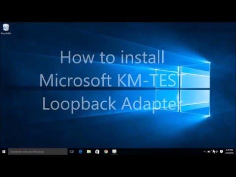 Install Microsoft KM TEST Loopback Adapter