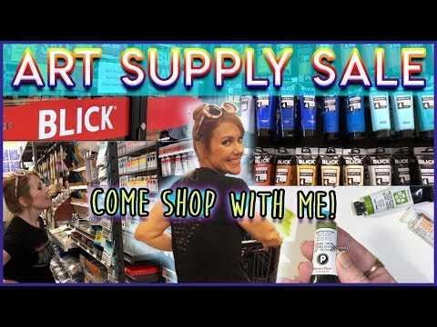 Shop With Me! BLICK'S BACK TO SCHOOL ART SUPPLY SALE! Haul + Chat