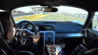 Porsche 918 Spyder Hot Lap around Porsche Leipzig Test Track