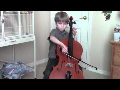 SaintSaens cello concerto, mov 1 Keenan, age 8.