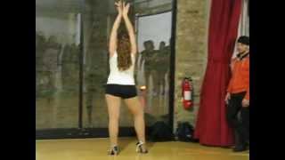 Jennifer Luna Jazzy Salsa Solo @ Urban Vibe Rave Social 2012