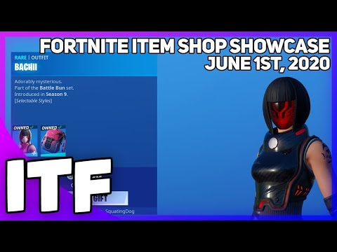 Fortnite Item Shop *RARE* BACHII SKIN RETURNS! [June 1st, 2020] (Fortnite Battle Royale)
