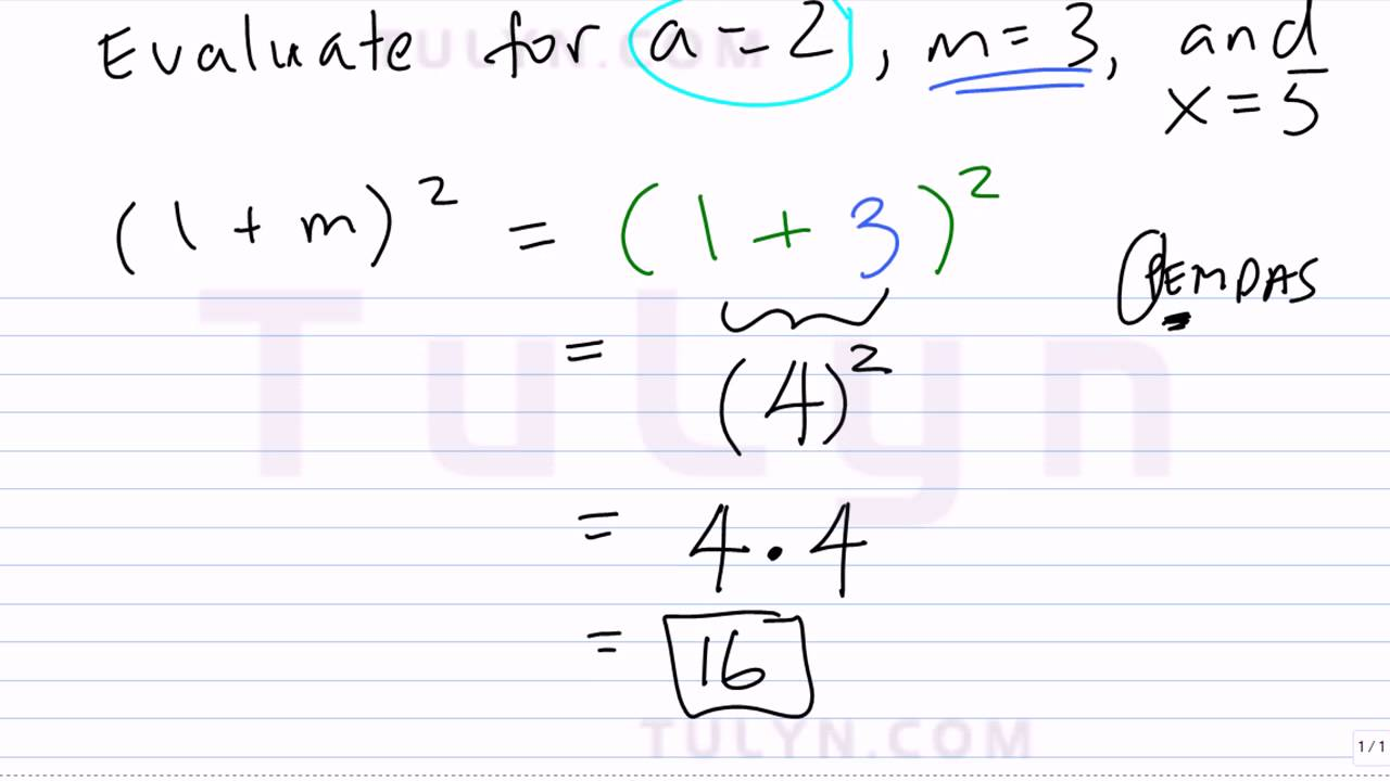 Evaluating Expressions with Parentheses and Exponents using – Evaluating Exponents Worksheet