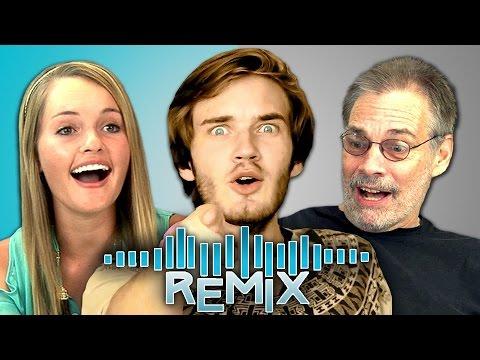 REACT REMIX - PewDiePie Song (Teens & Elders)