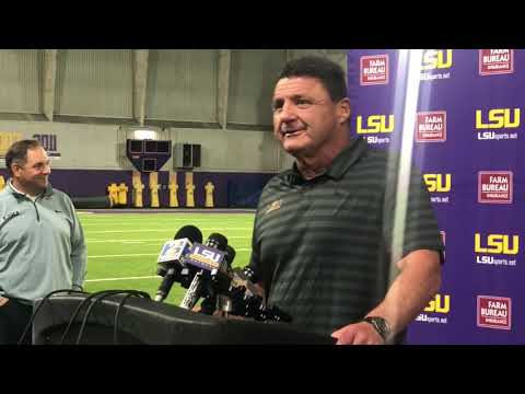 LSU coach Ed Orgeron prepares increasingly healthy Tigers for Mississippi State thumbnail