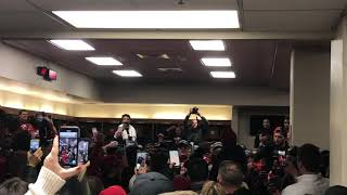 Louisville celebration in the locker room after Music City Bowl