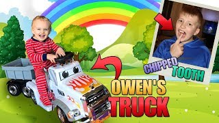 Baby Owen's New Truck, David Chipped Tooth & Zac Punched in the Face!  || Mommy Monday