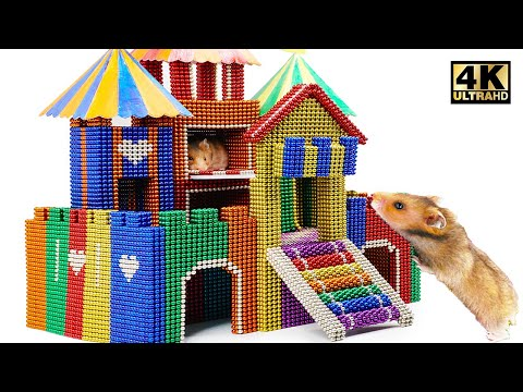 DIY - How To Build Castle for Hamster From Magnetic Balls ( Satisfying ) | Magnet World 4K