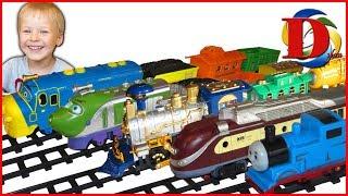Железная дорога и поезда игрушки для мальчиков ВСЕ видео для детей Паровозик Чаггингтон Томас Сапсан