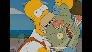 The Simpsons  - Eating Monster lives under the Sea!