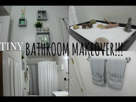 DIY| Small Bathroom Makeover!!!+TOUR|Affordable
