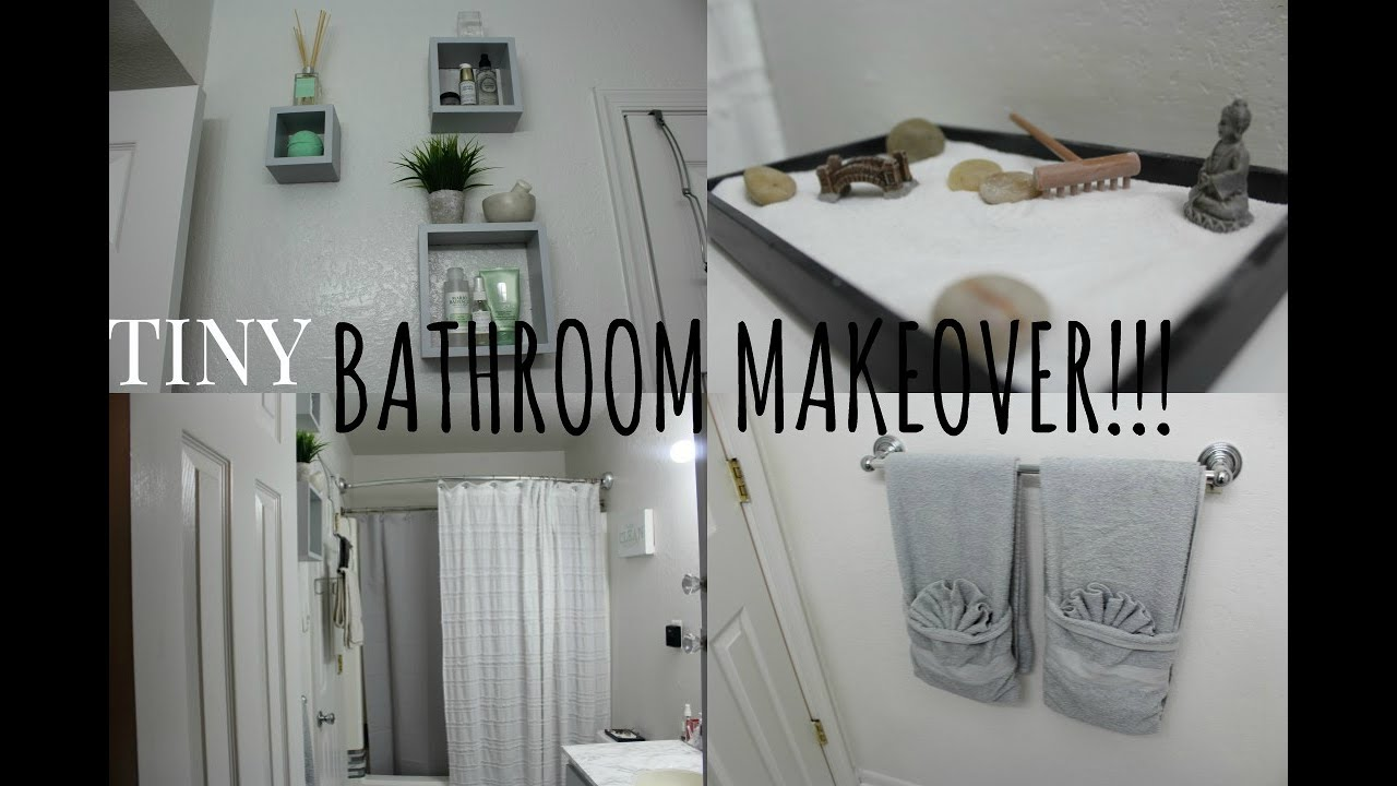 DIY Small Bathroom MakeoverTOURAffordable YouTube - Tiny bathroom makeover