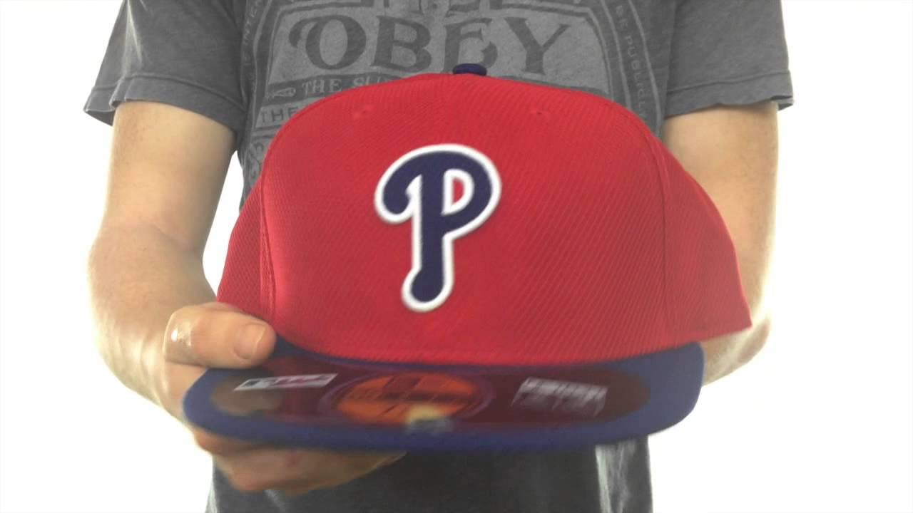587a149b927 Phillies  MLB DIAMOND ERA  59FIFTY Red Royal BP Hat by New Era - YouTube