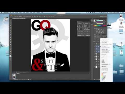 Photoshop Tutorial | Magazine Cover For InDesign