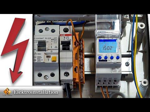 Zeitschaltuhr digital f/ür Hutschiene Einbau Schaltschrank Z/ählerschrank 230V 16A