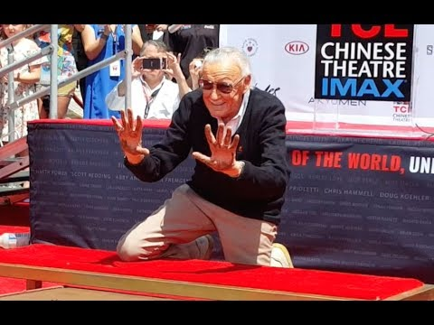 Stan Lee Hand and Footprint Ceremony at TCL Chinese Theatre By Legion M