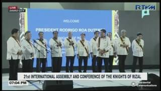 Conferment Ceremony of the 21st International Assembly and Conference of the Knights of Rizal