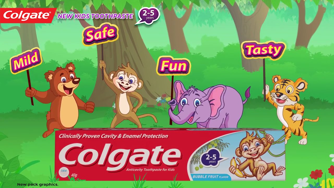 Colgate Kids Toothpaste - YouTube