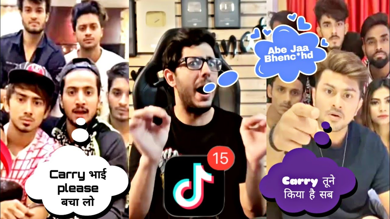 Mr. Faisu, Awez Darbar, Riyaz, Manjul, Adnaan Reaction on Tiktok Ban Ft. Carryminati |