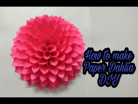 #DIY | Paper Dahlia Tutorial | step by step | Handmade |