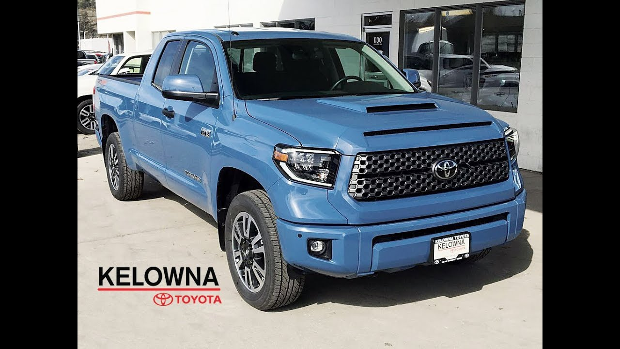 Toyota Tundra Trd Sport Double Cab Cavalry Blue Youtube