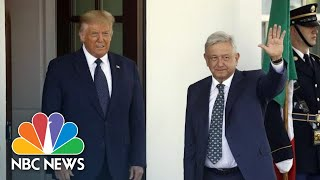 Live: Trump Signs Joint Declaration With President Of Mexico | NBC News